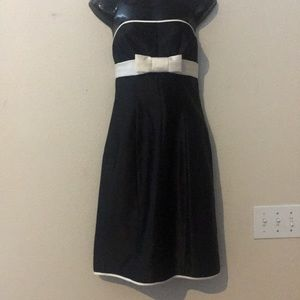 Moda 👗International Black w/ White Bow Dress Sz 6